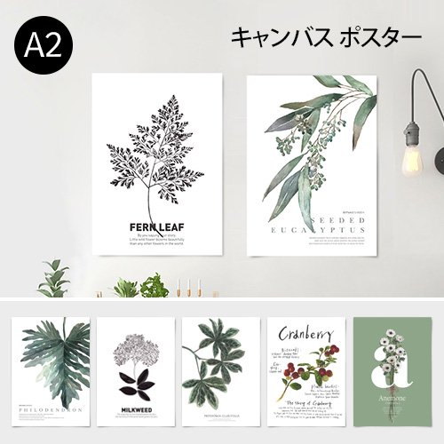 【キャンバス素材ポスター】ボタニカルコレクションVo.1 A2