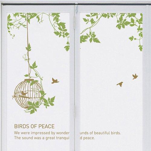 【ウォールステッカー】鳥たちの庭園