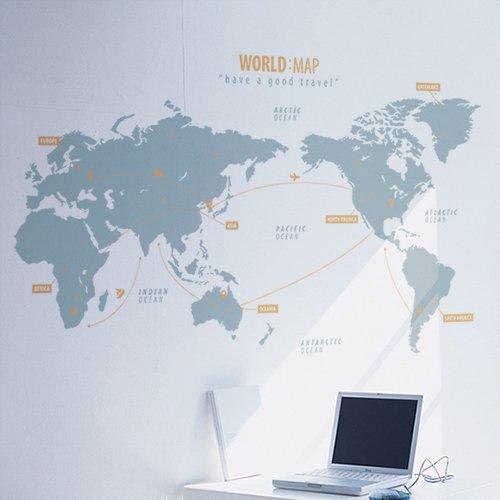【ウォールステッカー】ワールドマップ