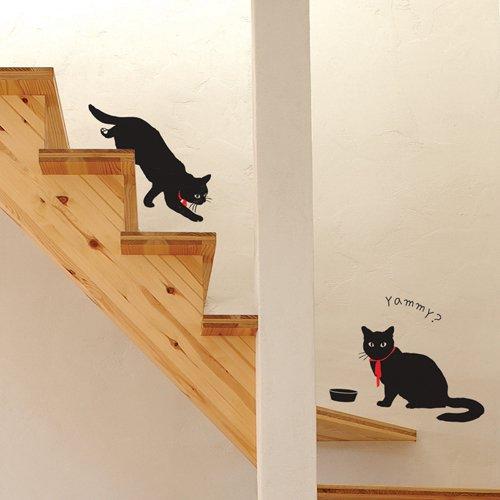 【ウォールステッカー】黒猫ミル
