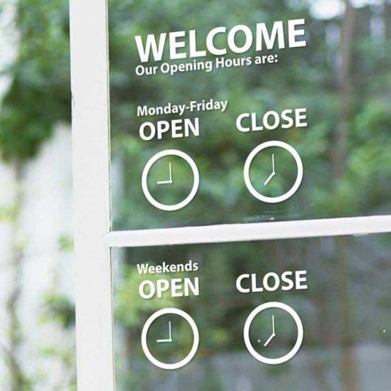 【ウォールステッカー】オープン/クローズ・アナログ