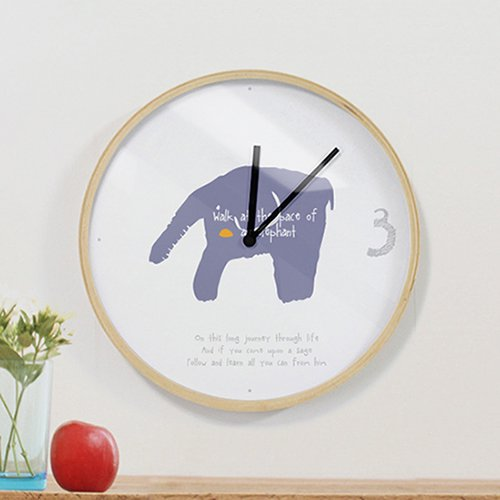 【壁掛け時計】エレファント