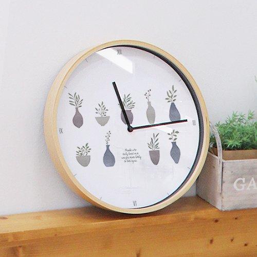 【壁掛け時計】ラブプランツ