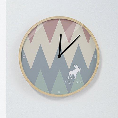 【壁掛け時計】モダンシェイプ