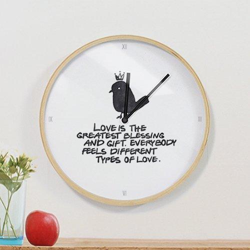 【壁掛け時計】デイリーラブ(バード)