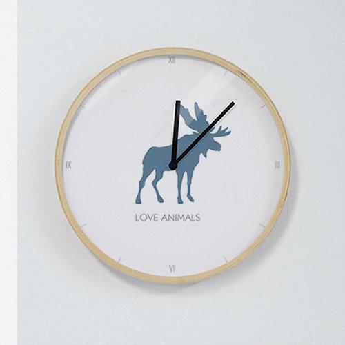 【壁掛け時計】ラブアニマルA