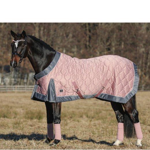 キルト馬着 モノグラム・ペールピンク