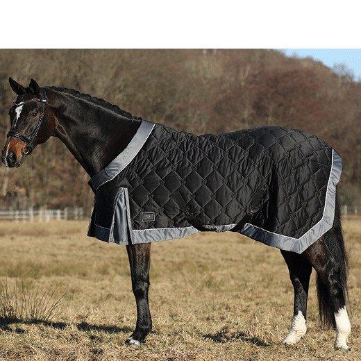 キルト馬着 モノグラム・スチールグレイ