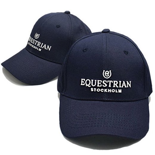 EQUESTRIAN STOCKHOLM コットンキャップ -Navy White