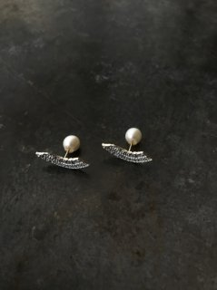 accessories mau  扇ピアス silver