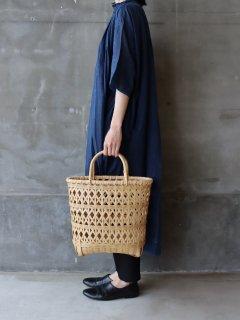 竹のカゴバッグ 縦長