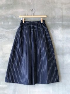 YAMMA 会津木綿タックスカート はなぶさ縞