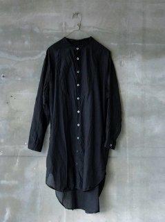 宝島染工 シルクコットン切替シャツ ビッグ ブラック