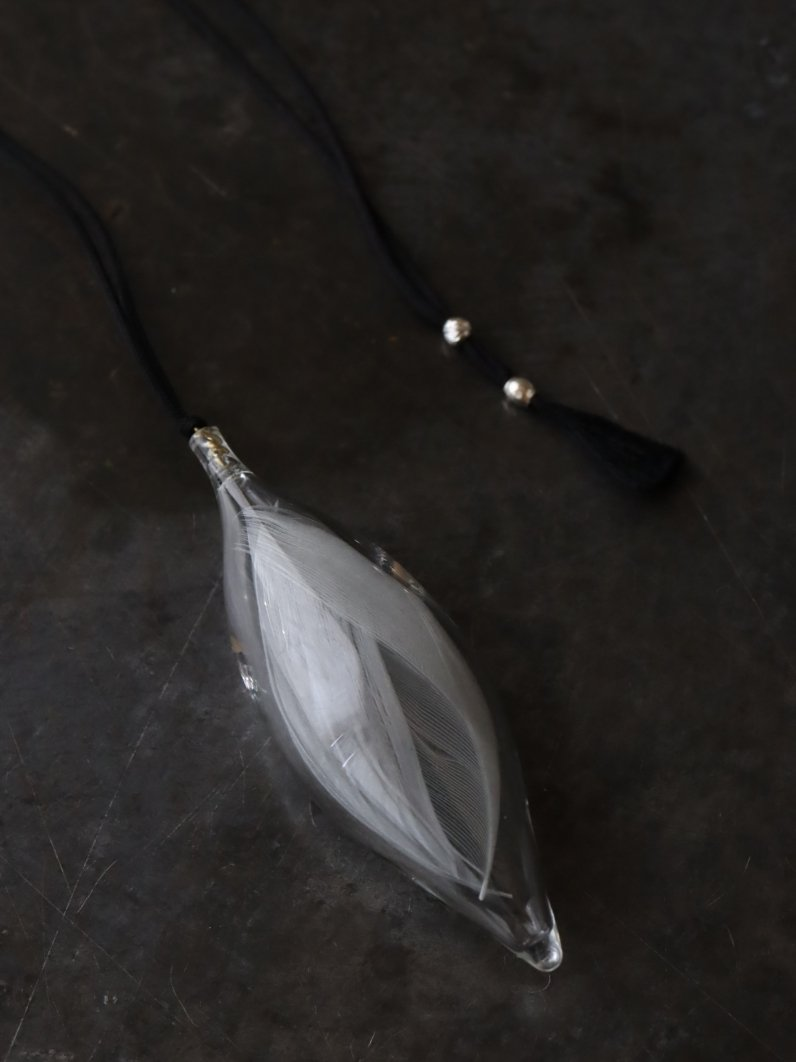 涙ガラス製作所 思い羽 正絹唐打ち紐 黒