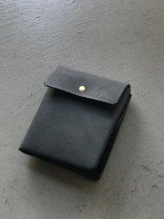 safuji ミニ折り財布 グレイブラック