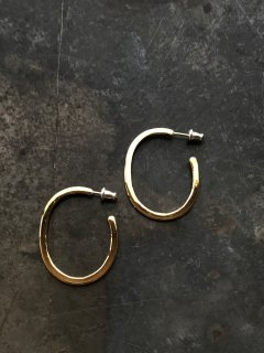accessories mau  太フープ brass ピアス
