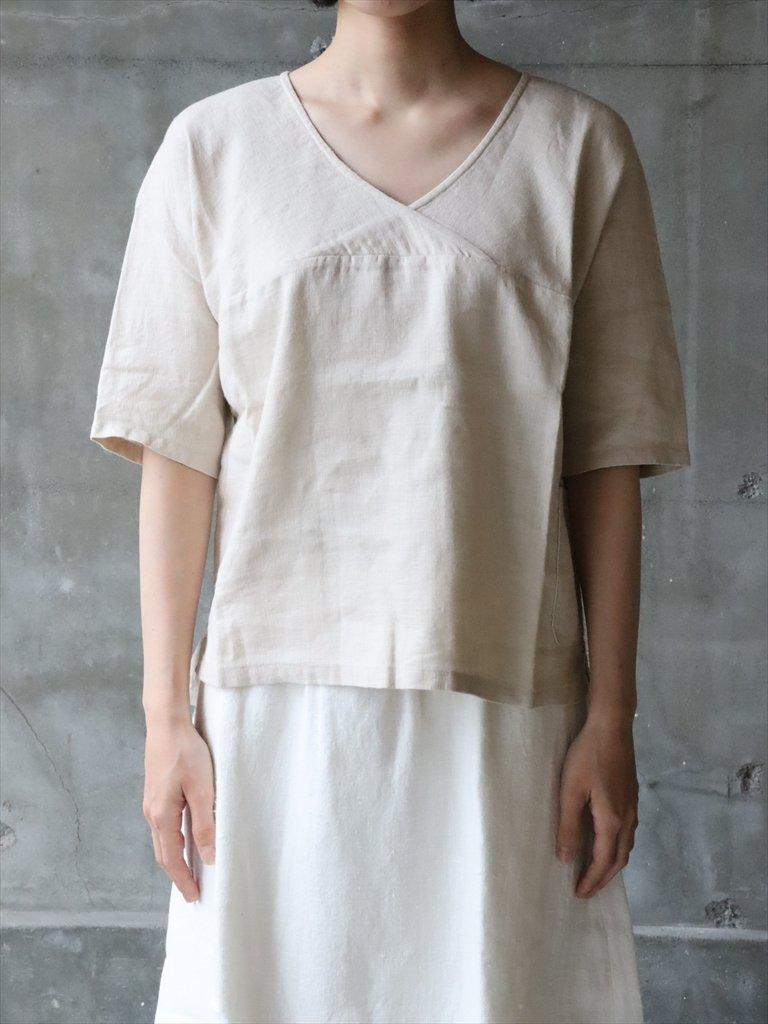 omoto クイナック 5分丈袖 リネン 生成