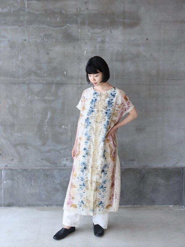 funatabi カディ スリットドレス 花染め A'