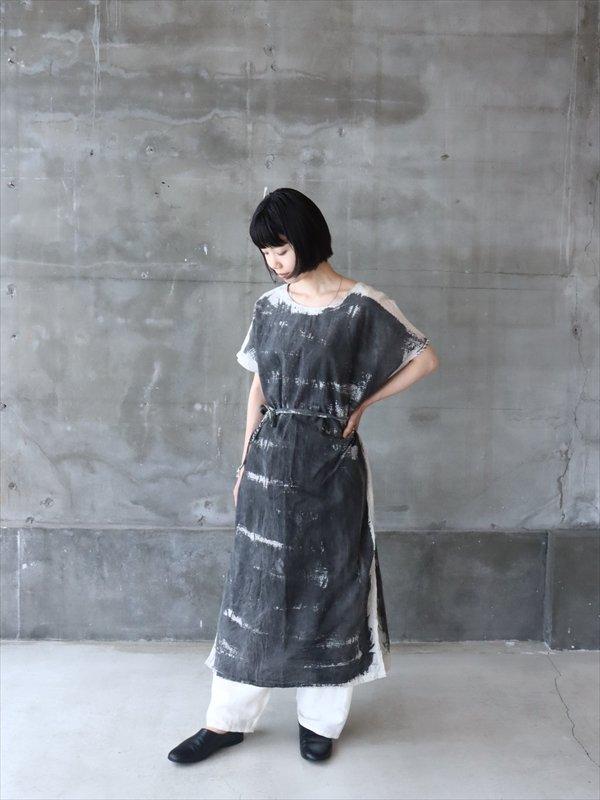 funatabi カディ スリットドレス 墨染 B