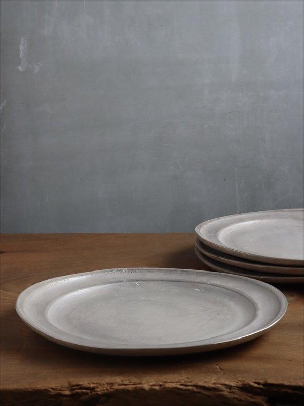 亀田大介 銀磁8.5寸 リム皿