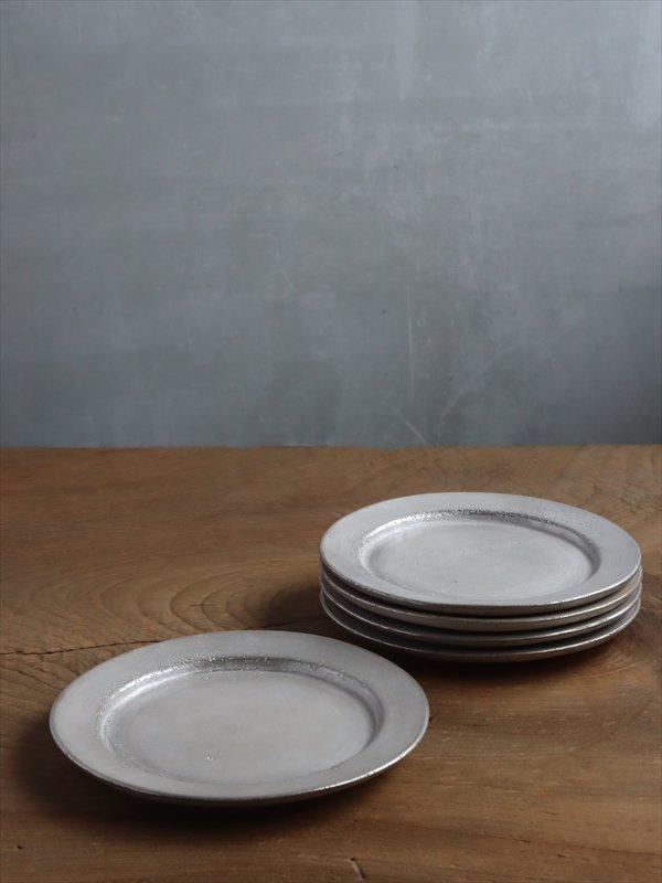 亀田大介 銀磁5寸 リム皿