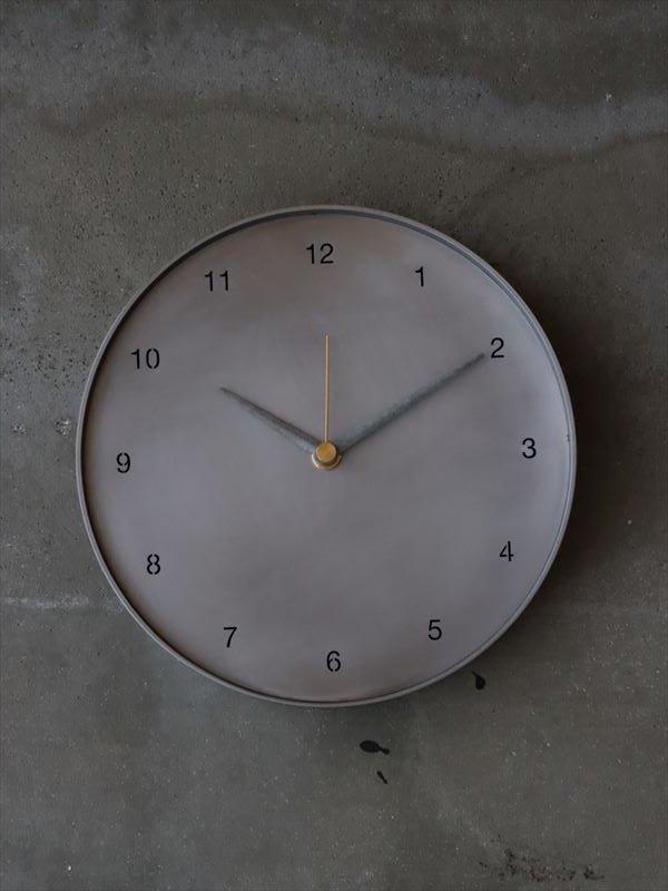 bowlpond 時計(大)渋銀 数字