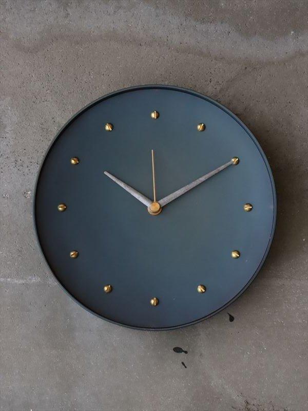 bowlpond 時計(大)黒皮 マイナスネジ