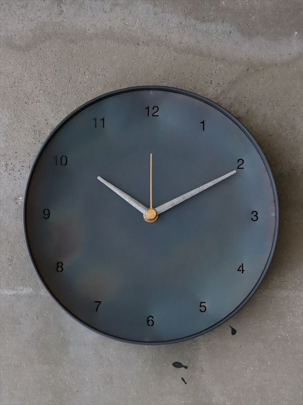 bowlpond 時計(大)黒皮 数字