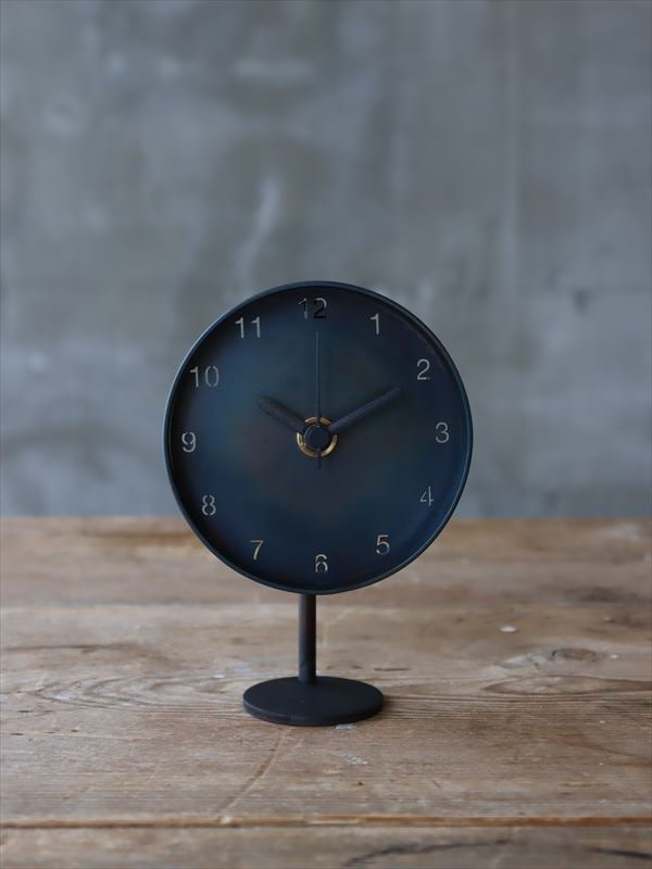 bowlpond  時計(小)黒皮 数字