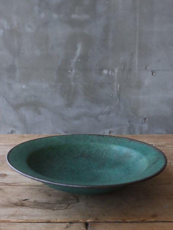 錆枝 青銅リム鉢