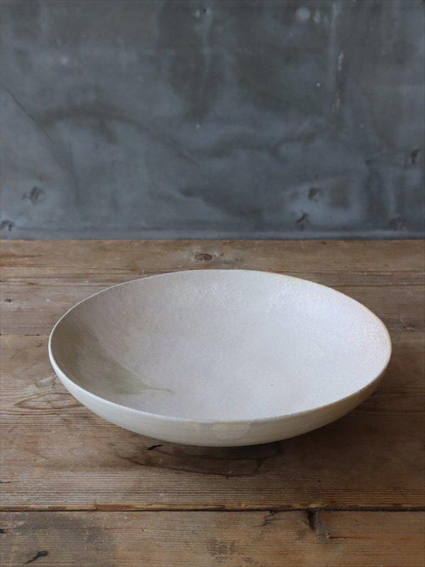 錆枝 7寸鉢 ホワイト A