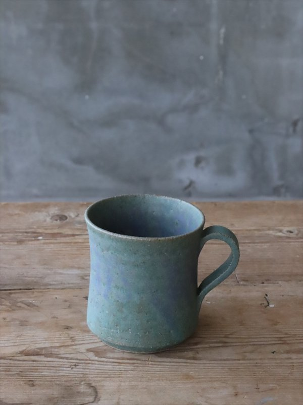 錆枝 mug cup 緑青