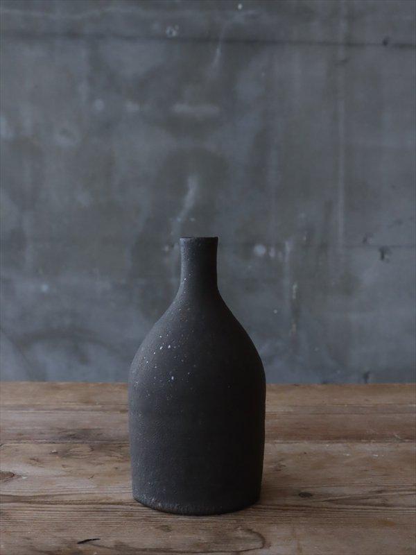 錆枝 一輪挿し ボトル 墨黒