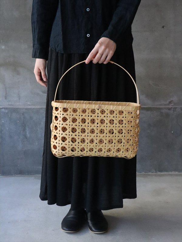 別府竹工芸研究所 網中聖二 八つ目編みバック(大)