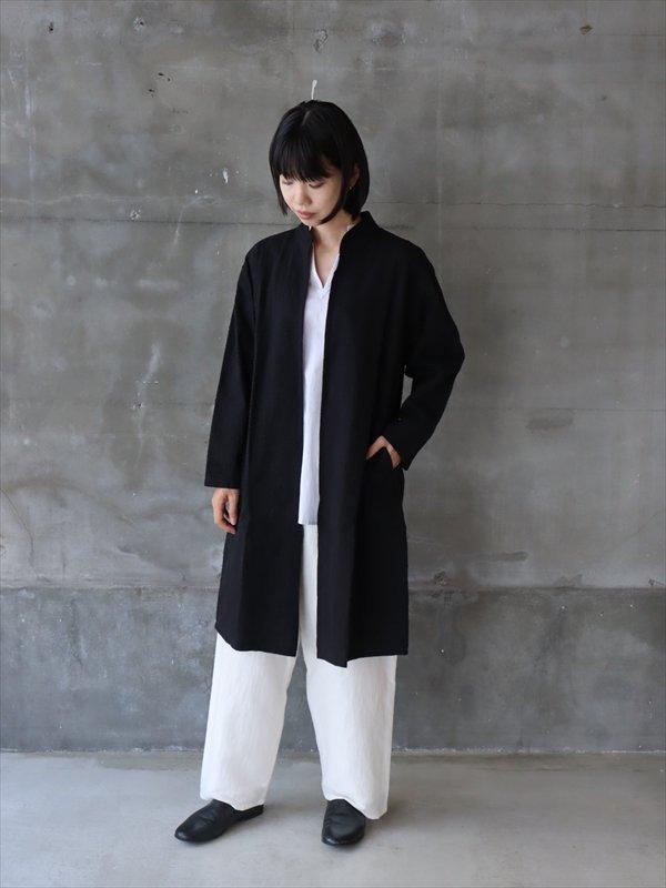 iroiro 刺し子 Jacket Long 黒黒