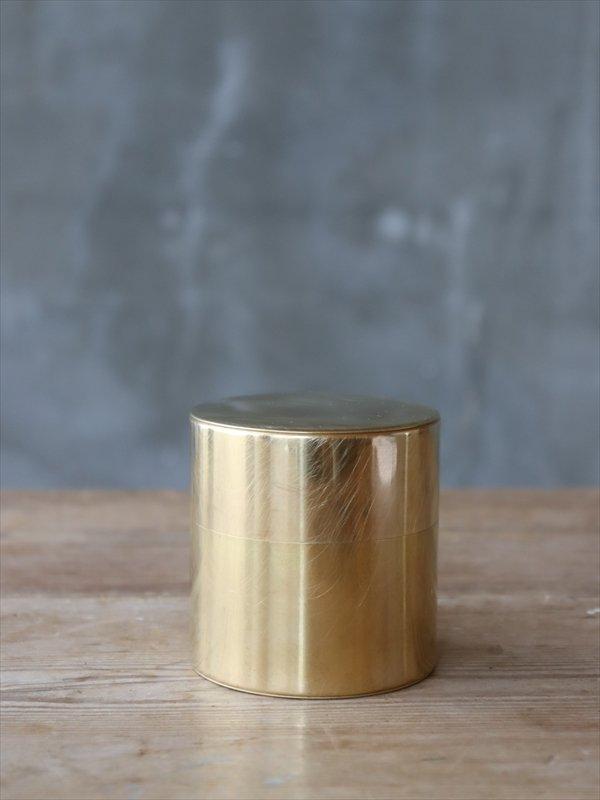 真鍮の茶缶