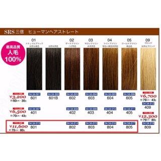 KM-496-10☆新品<BR>SRS 三信<BR>ヒューマンヘアストレート<BR>約70cm・80g(HB)