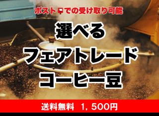 【焙煎翌日便】<焙煎豆>選べるフェアトレード 無農薬コーヒー豆 セット(100g×2種・粉)*送料無料