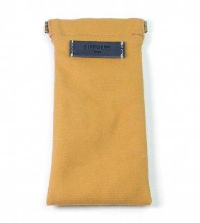 DIFFUSER (ディフューザー)  眼鏡(メガネ)ケース COTTON CANVAS SOFT EYEWEAR CASE SG1025F Ocher & Navy Leather
