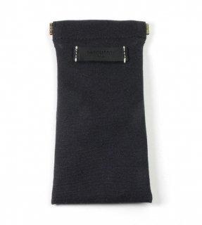 DIFFUSER (ディフューザー)  眼鏡(メガネ)ケース COTTON CANVAS SOFT EYEWEAR CASE SG1025H Black & Black Leather