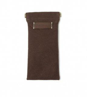 DIFFUSER (ディフューザー)  眼鏡(メガネ)ケース COTTON CANVAS SOFT EYEWEAR CASE SG1025J Dark Brown Leather