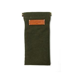 DIFFUSER (ディフューザー)  眼鏡(メガネ)ケース COTTON CANVAS SOFT EYEWEAR CASE SG1025I Military Green&Orange leather