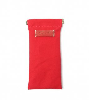 DIFFUSER (ディフューザー)  眼鏡(メガネ)ケース COTTON CANVAS SOFT EYEWEAR CASE SG1025K Red&Red Leather