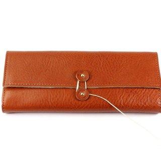 DIFFUSER (ディフューザー)  眼鏡(メガネ)ケース SHRINK LEATHER SOFT EYEWEAR CASE SG1049C  Orange&Turquoise Leather