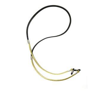 DIFFUSER (ディフューザー) グラスコード(メガネチェーン)CANDY TONE STICH GLASS CODE SG1066I Black&Gold
