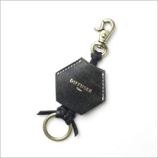 DIFFUSER (ディフューザー)  グラスホルダー(メガネチェーン) CRUSH LEATHER HANGING HOLDER SG1031A Black