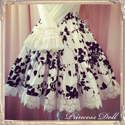 2058 White Rose Skirt