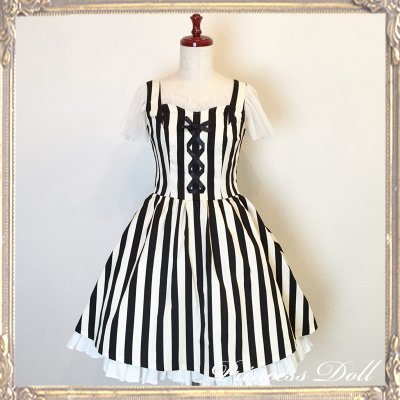 1077-4 Lady Dress(stripe)