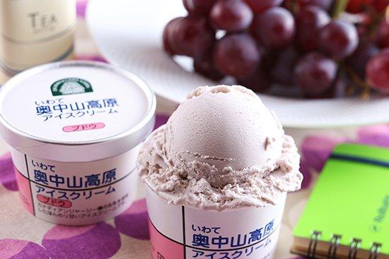 いわて奥中山高原 アイスクリーム ぶどう 【 岩手県 】