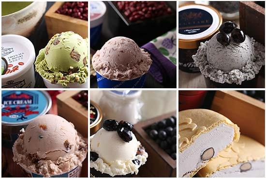 極上 あずきアイスクリーム 食べ比べ+アイスクリーム専用スプーン セット(6個+1本)【画像2】